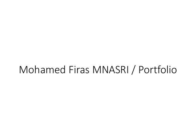 Mohamed Firas MNASRI / Portfolio