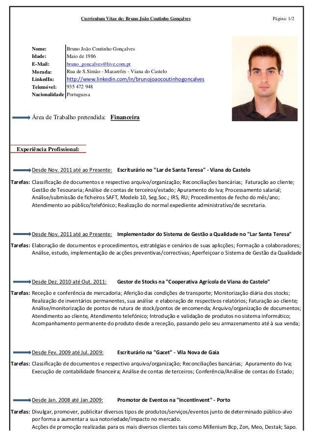 Curriculum Vitae Bruno Goncalves