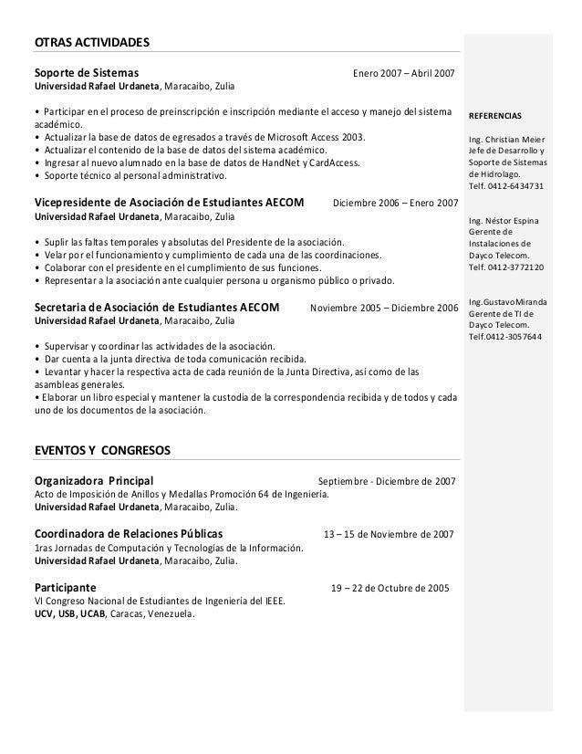 Curriculum Vitae 2010 Esp