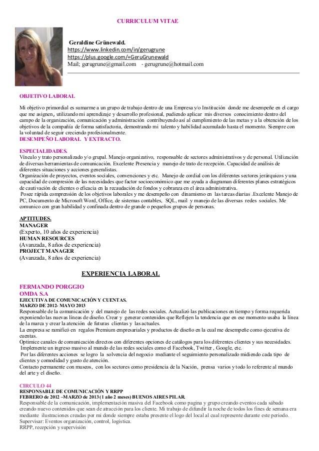 curriculum vitae geraldine grnewald httpswwwlinkedincomin