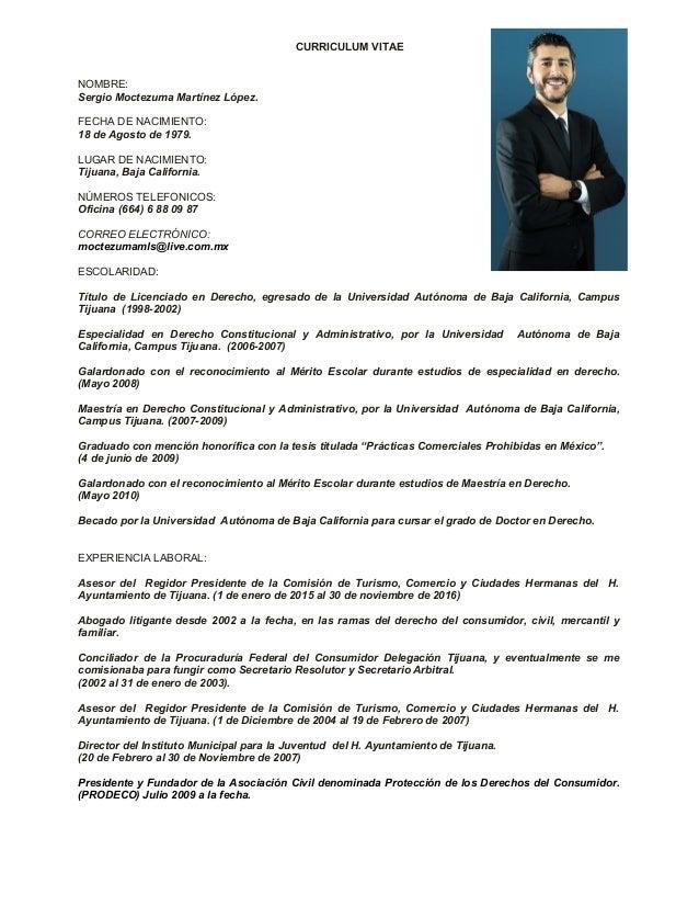 Curriculum vitae 2017 Sergio Moctezuma