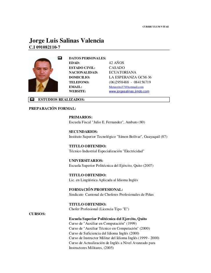 Curriculum Vitae En Espa Ol Para Llenar 2012 Type An Essay Online