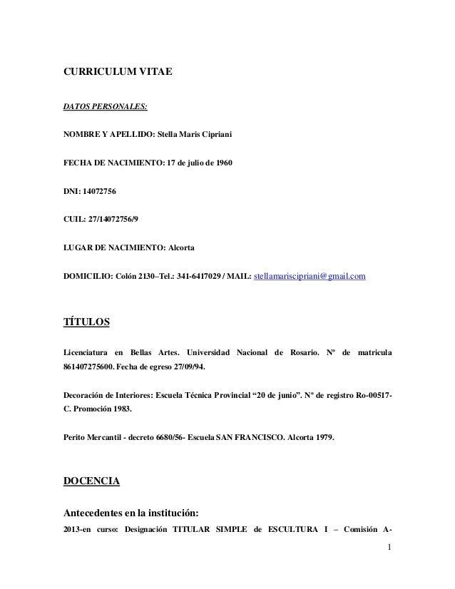 Curriculum Vitae Actualizacion 2014 3
