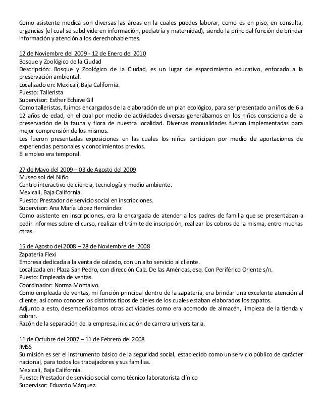 Increíble Asistente Médico Cv Ejemplos Ilustración - Colección De ...