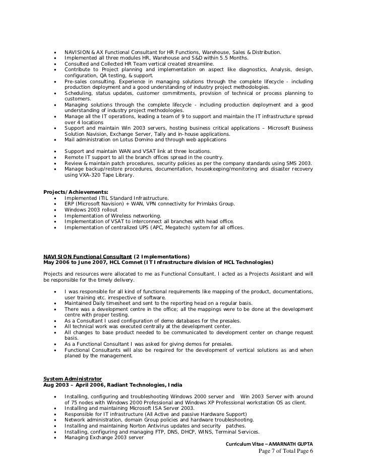 dynamics ax resume