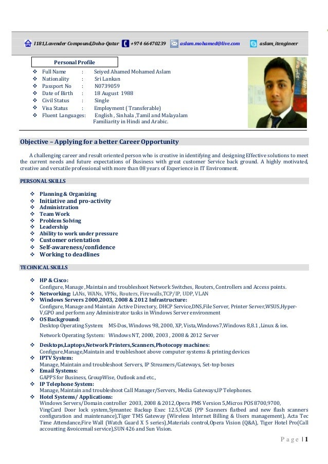 Professional Cv Formats In Sri Lanka How To Write A Successful Cv