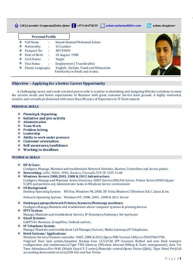 Professional Cv Formats In Sri Lanka How To Write A Successful Cv