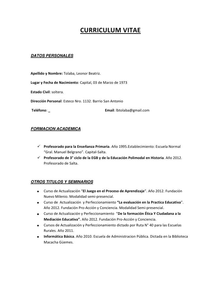 Curriculum Vitae Simple Descargar Blog Qblz Com Br