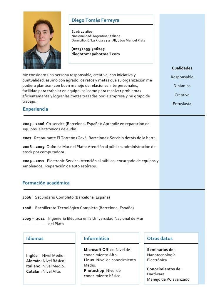 Diego Tomás Ferreyra                           Edad: 22 años                           Nacionalidad: Argentina/ Italiana  ...