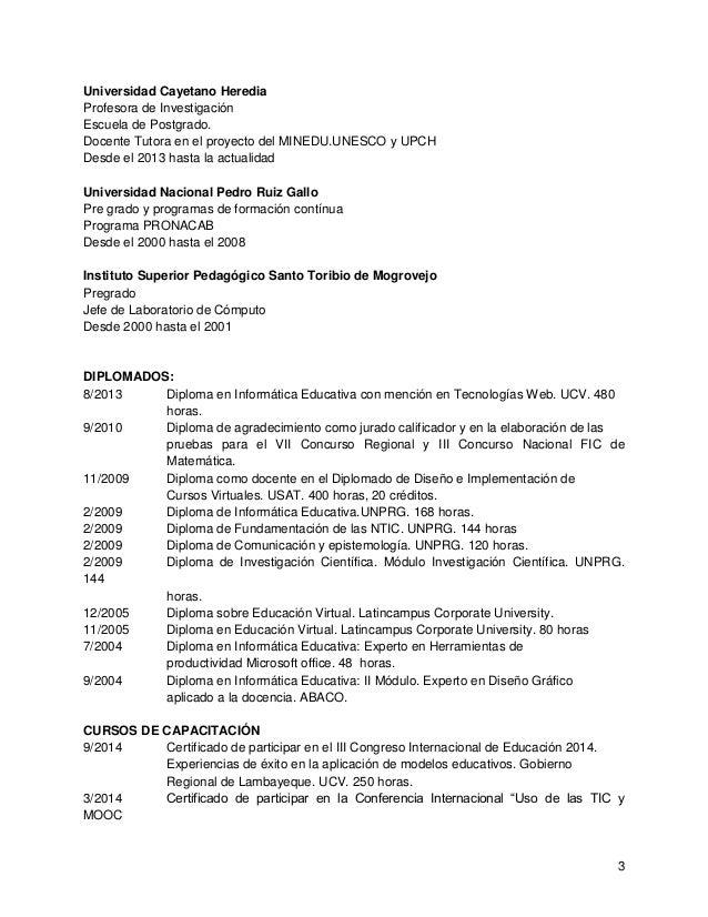 Curriculumvitae Dra. fiorela fernández otoya. 2015