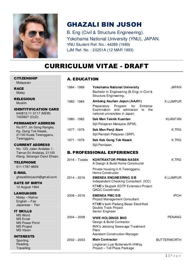curriculum vitae drafts