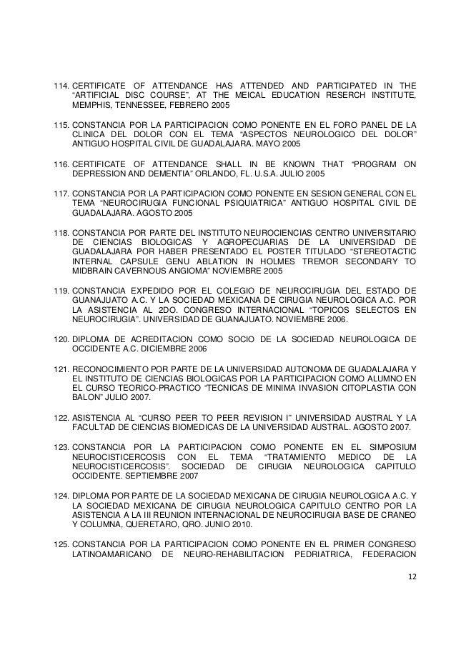 Curriculum vitae Dr. Roberto Riestra Castañeda