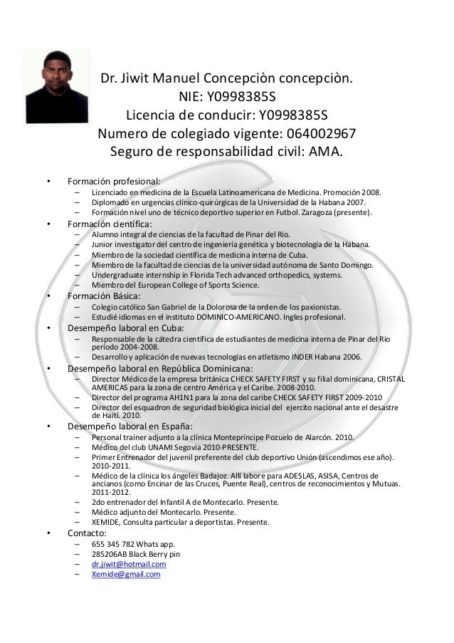 curriculum vitae english version 1