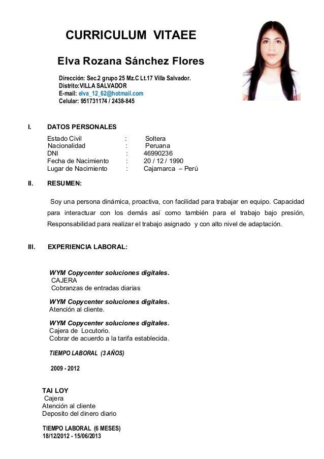 Curriculum Vitae Basico Elita Mydearest Co
