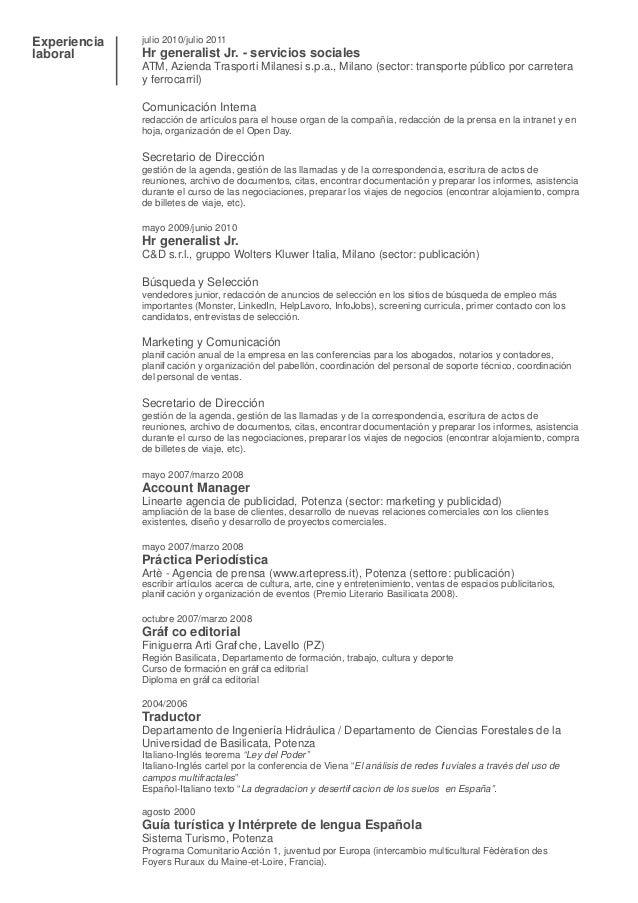 Curriculum Vitae Español