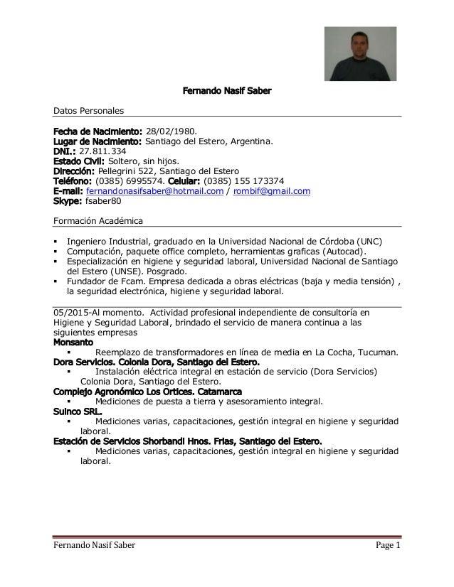 Curriculum Vitae Fer Santiago