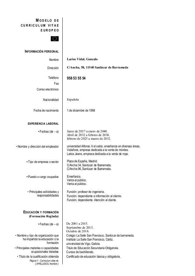 Curriculum vitae gonzalo larios