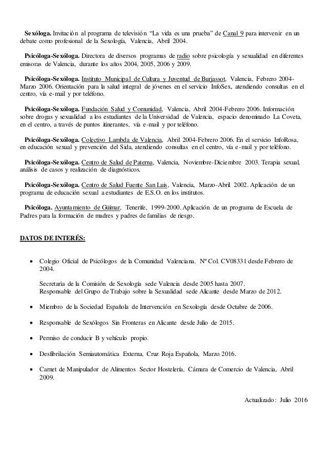 Curriculum Vitae Iracy Llinares Alves