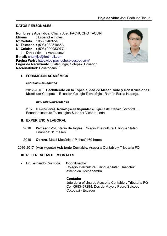 Curriculum vitae joel_pachuho