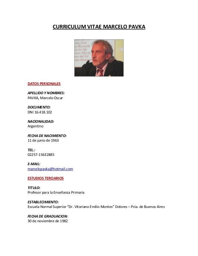 Curriculum Vitae Modelos Ejemplos Argentina