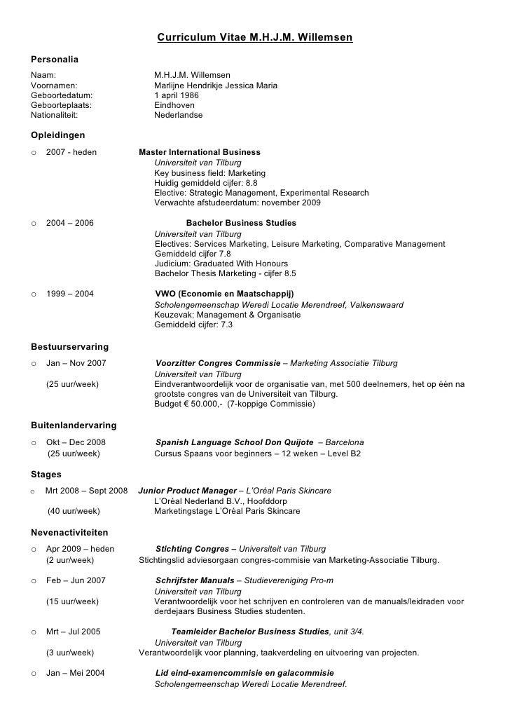 Curriculum Vitae Marlijne Willemsen