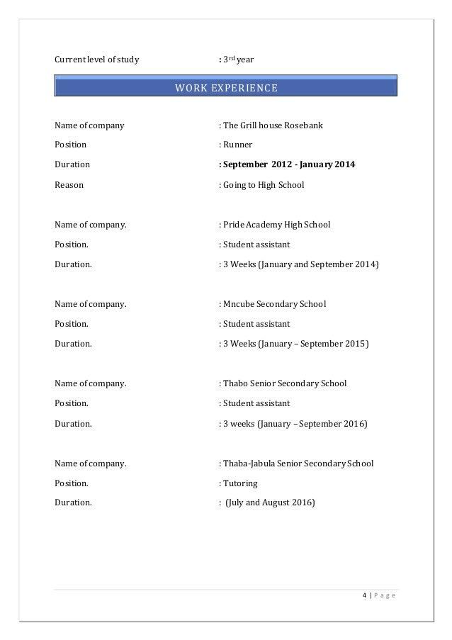 Curriculum vitae of mthetheleli edwin khumalo