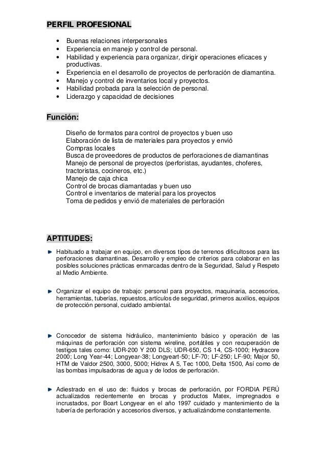 Excepcional El Formato Del Currículum Supervisor De Tuberías ...