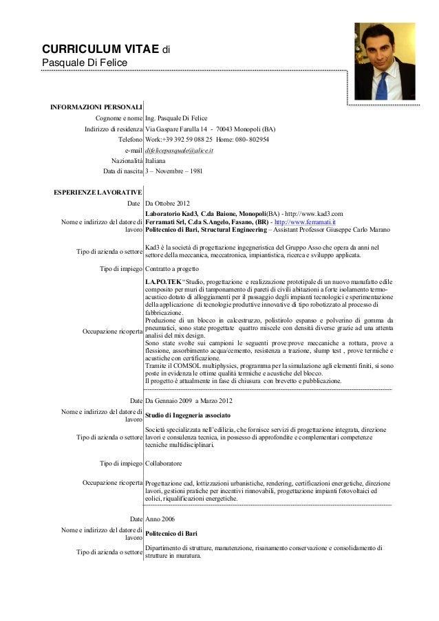 Europass Curriculum Vitae Modello Italiano Sospensione Thesis