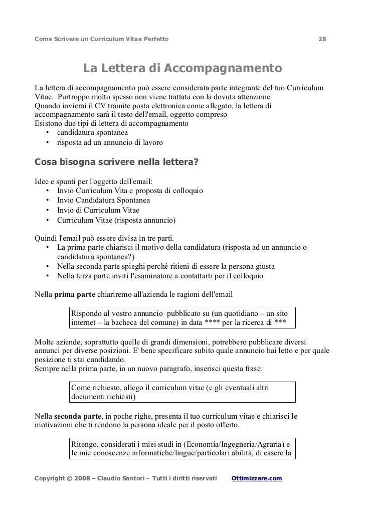 Curriculum Vitae Perfetto