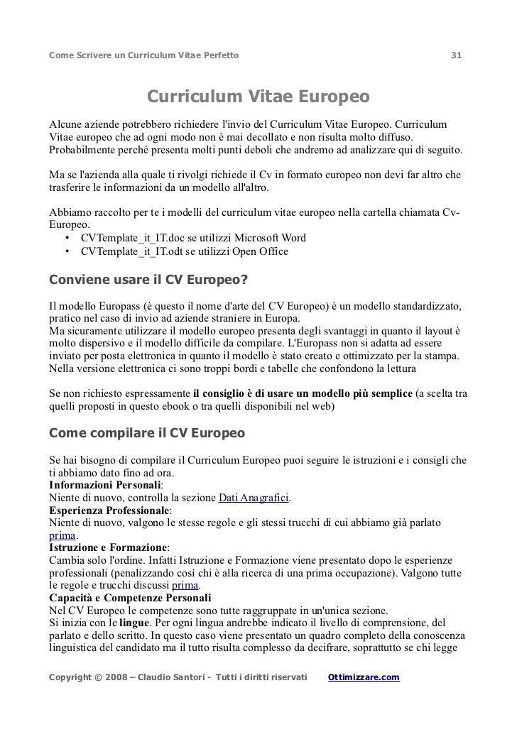 Formato Curriculum Vitae Europeo Word April Mydearest Co
