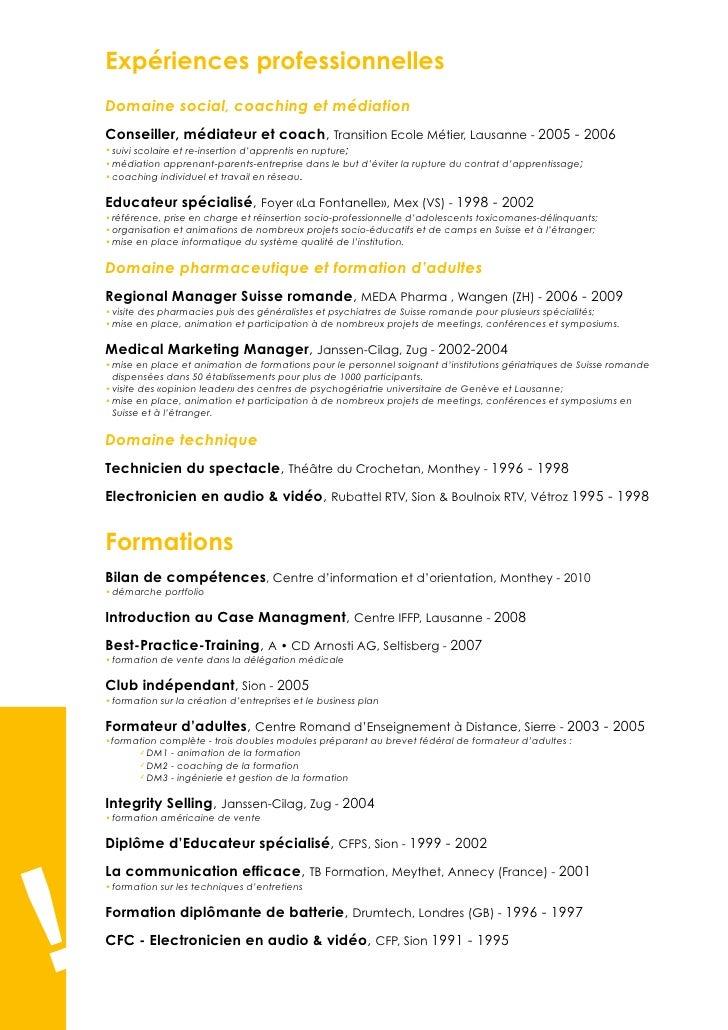 Exemple de CV conseiller en insertion sociale et professionnelle