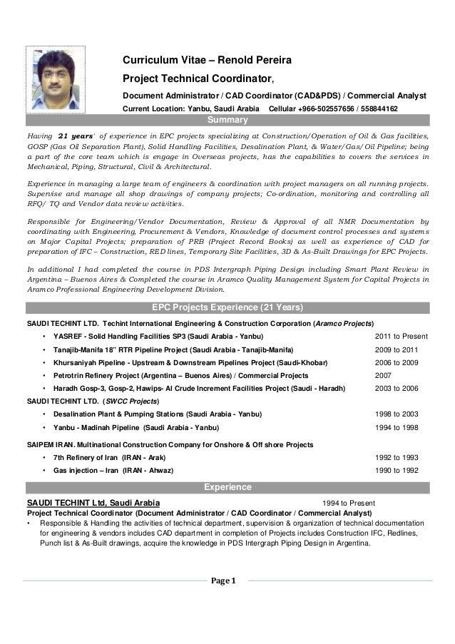 Cad Administrator Sample Resume