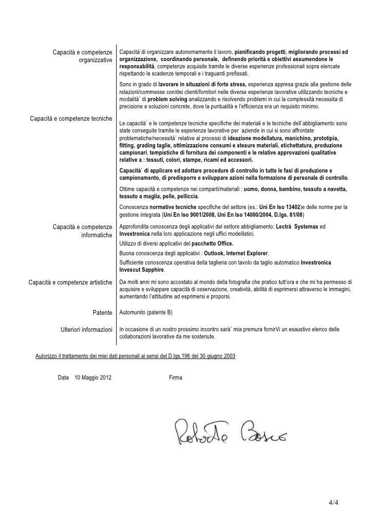 Curriculum Vitae Roberto Bosco