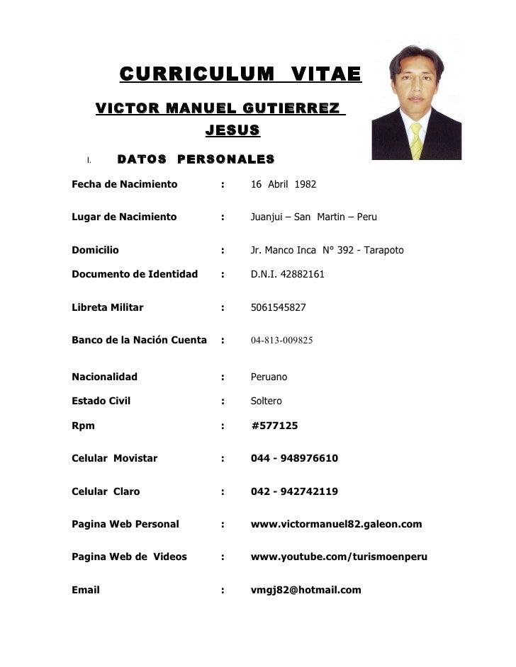 Ejemplos De Curriculum Vitae Doc Z Bau De