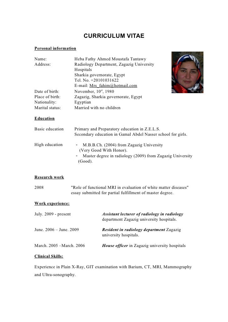 Curriculum Vita Heba