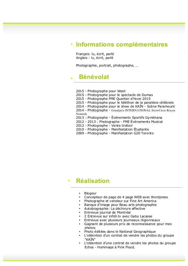 curriculum vitea 2015 mon c v