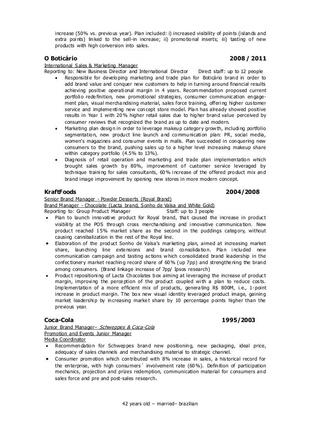 ... 2. Increase ...  Product Marketing Resume