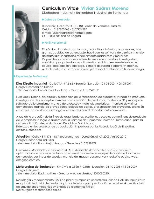 Curriculum Vivian Suarez 2011