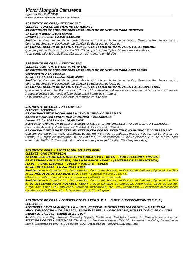Curriculum vmc ing. resid. de obra 2014