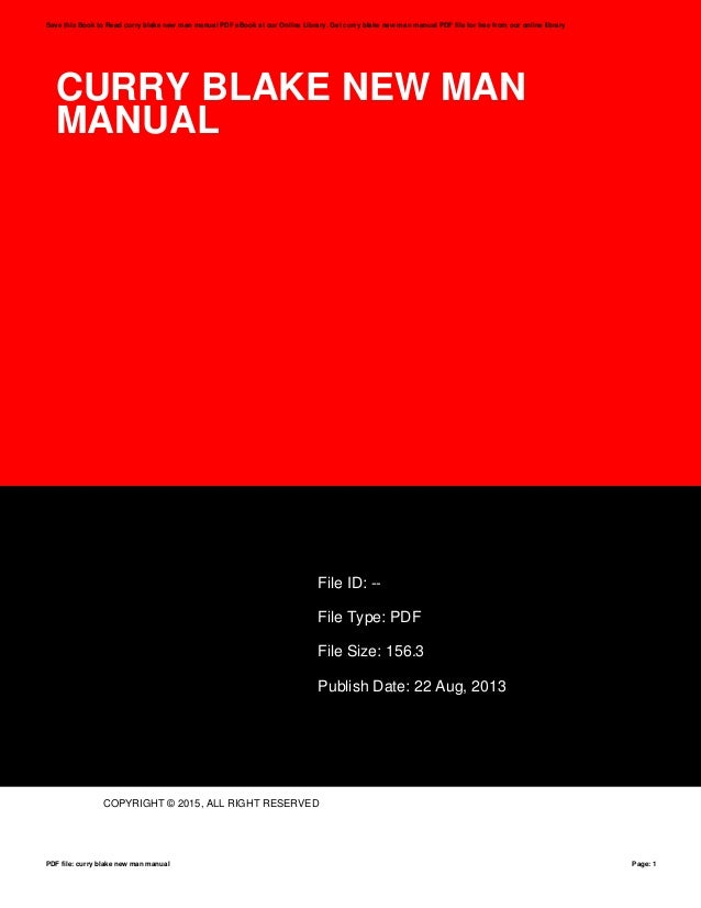 Curry blake new man manual