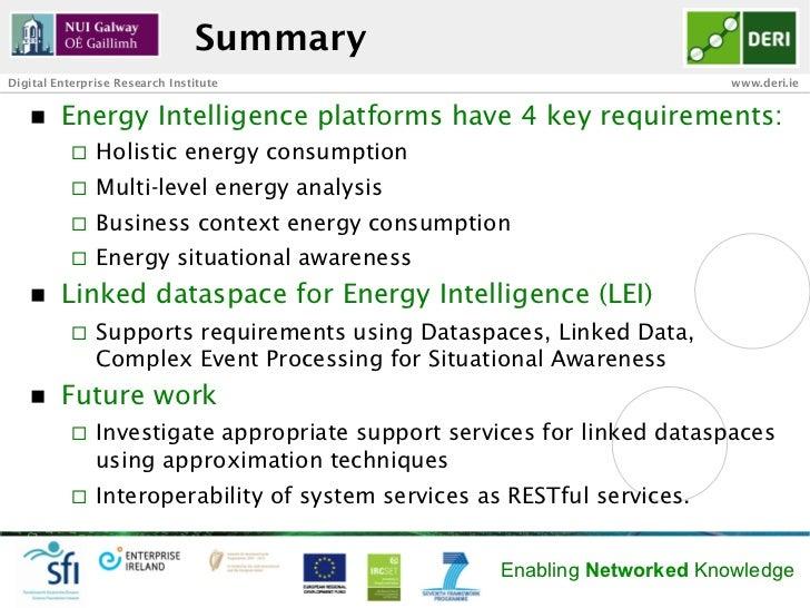SummaryDigital Enterprise Research Institute                                       www.deri.ie   n   Energy Intelligence...