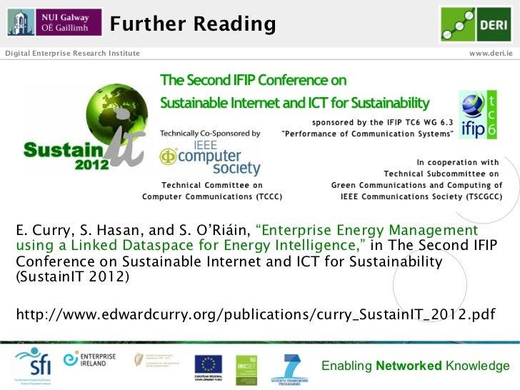 Further ReadingDigital Enterprise Research Institute                              www.deri.ie  E. Curry, S. Hasan, and S. ...