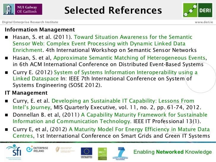 Selected ReferencesDigital Enterprise Research Institute                                      www.deri.ie Information Mana...