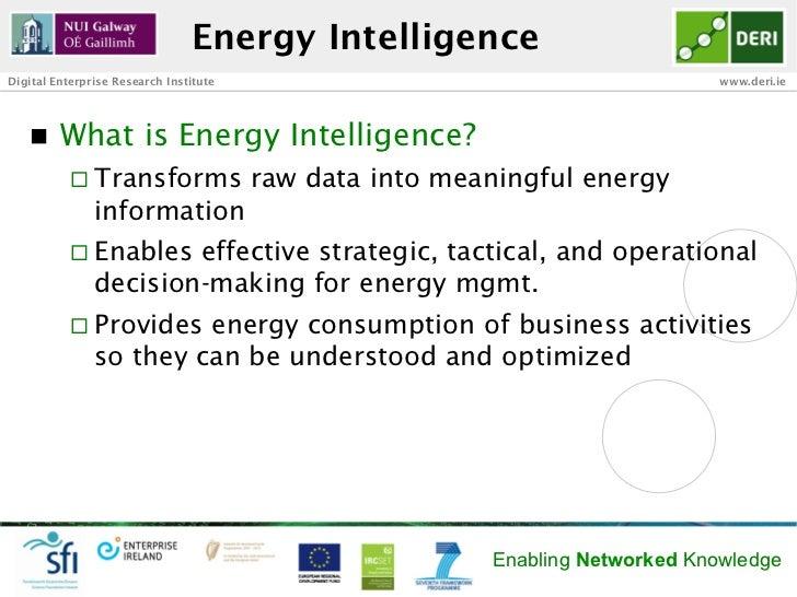 Energy IntelligenceDigital Enterprise Research Institute                                         www.deri.ie   n   What ...