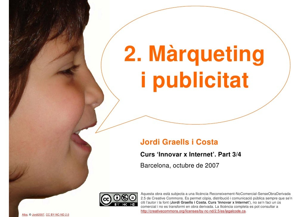 2. Màrqueting                                        i publicitat                                        Jordi Graells i C...