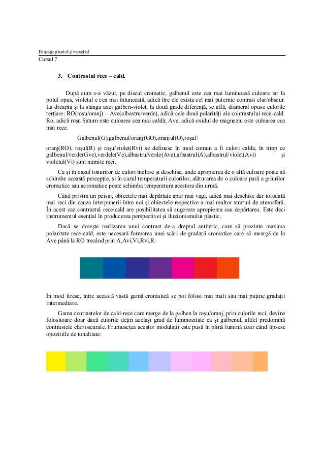 Curs 7 contrastele cromatice Slide 3