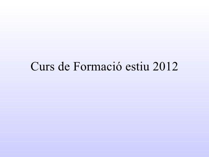 Curs de Formació estiu 2012