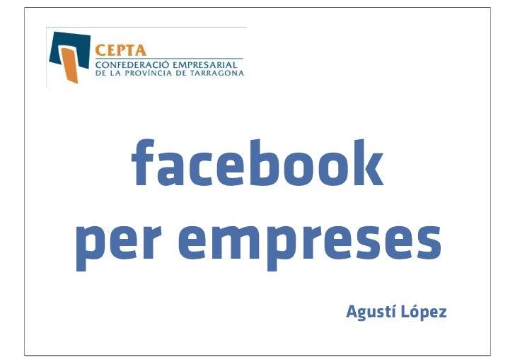 facebookper empreses        Agustí López