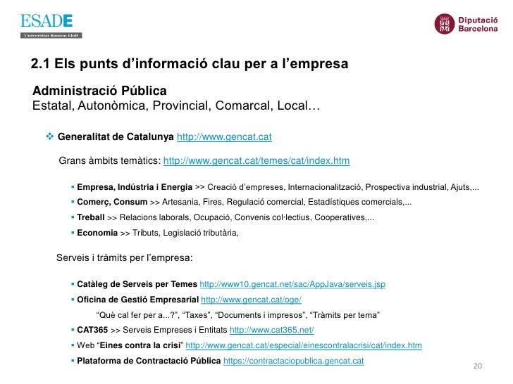 Curs fonts informacio octubre 2009 for Oficina gestio empresarial