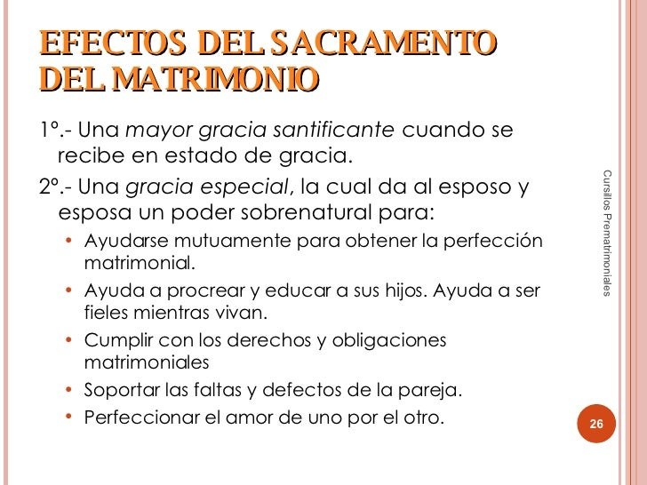 Efectos Del Matrimonio Catolico : Cursillos prematrimoniales